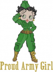 Proud Army Girl embroidery design
