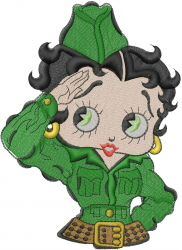 Betty Boop Salute embroidery design