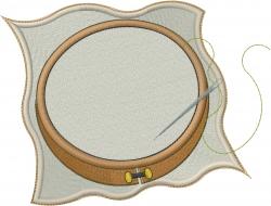 Needlepoint Hoop embroidery design