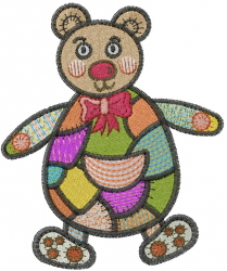 Patchwork Bear embroidery design