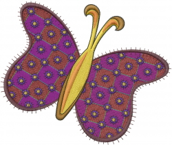Patchwork Butterfly embroidery design