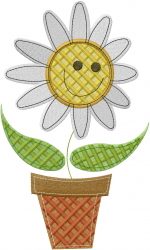 Patchwork Flower embroidery design