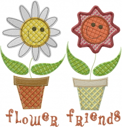 Flower Friends embroidery design