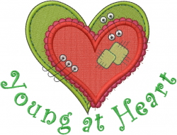 Young at Heart embroidery design
