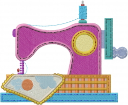 Patchwork Sewing Machine embroidery design