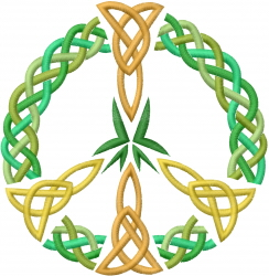 Celtic Peace Sign embroidery design