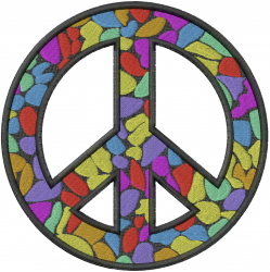 Peace Sign Mosaic embroidery design