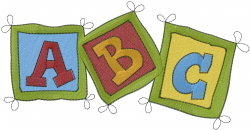 Preschool Letters embroidery design
