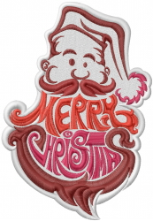 Merry Christmas Beard embroidery design