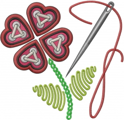 Sewing Hearts embroidery design