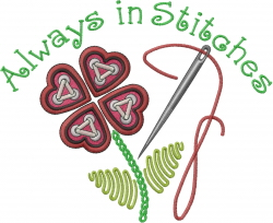 Always in Stitches embroidery design