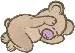 Baby Bear Sleeping embroidery design