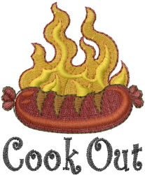Cook Out embroidery design