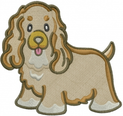 Cocker Spaniel Dog embroidery design