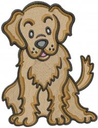 Golden Retriever embroidery design