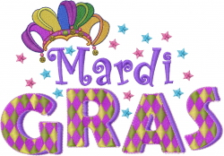 Mardi Gras Hat embroidery design