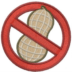 No Peanuts embroidery design