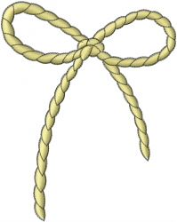 Robe Ribbon embroidery design