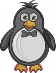 Valentine Penguin Boy embroidery design