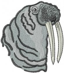 Walrus Head embroidery design