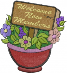 Welcome New Members embroidery design