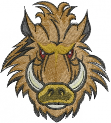 Boar Head embroidery design