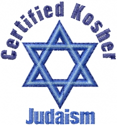 Certified Kosher embroidery design