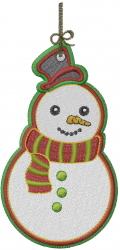 Christmas Snowman Ornament embroidery design