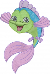 Cute Fish_ embroidery design