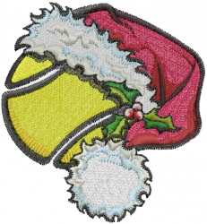 Christmas Tennis embroidery design