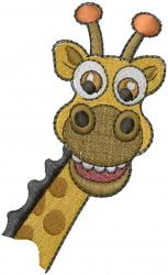 African Giraffe Head embroidery design