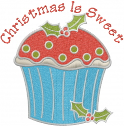 Sweet Christmas embroidery design