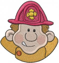 Fireman Head embroidery design