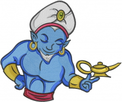 Genie & Lamp embroidery design