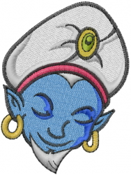 Genie Face embroidery design