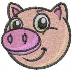 Piggy Face embroidery design