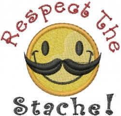 Respect The Stache embroidery design