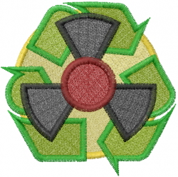 Nuclear Symbol embroidery design