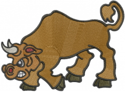 Spanish Bull embroidery design
