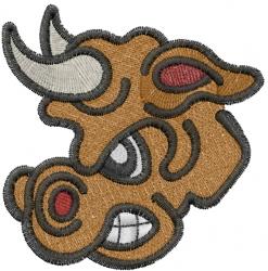 Spanish Bull Head embroidery design
