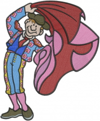 Spanish Bullfighter embroidery design