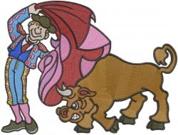 Spanish Bullfighter Man embroidery design