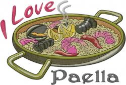 I Love Paella embroidery design