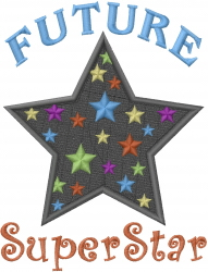 Future Superstar embroidery design