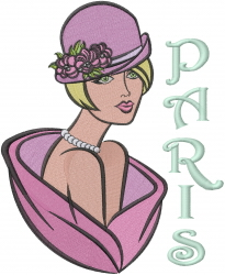 Paris Girl embroidery design