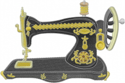 Vintage Sewing Machine embroidery design