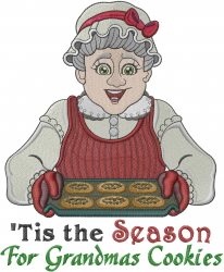 Season Cookies Grandma embroidery design