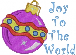 Joy Ornament embroidery design
