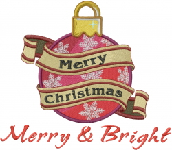Merry & Bright Ornament embroidery design
