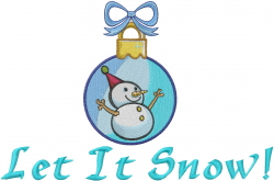 Let It Snow Ornament embroidery design